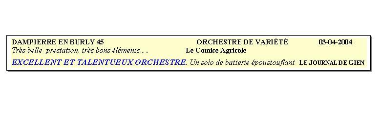 Dampierre en Burly 45-2004-orchestre de variété