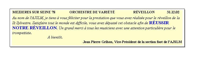 Mézières sur Seine 78-2002-orchestre de variété