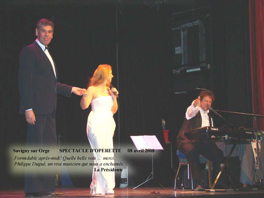 Savigny sur Orge 91- 2008 -orchestre bavarois-spectacle d'operette 1